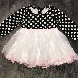 Polka dot dress for baby girl 3-6 months🎀